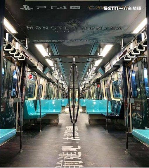 打卡,台北捷運車廂,SIET,PS4,遊戲,MONSTER HUNTER: WORLD,車箱,魔物獵人