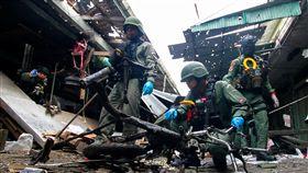 ▲泰國南部耶拉府(Yala)一處菜市場發生機車炸彈爆炸案,豬肉攤老闆娘當場炸死。(圖/路透社/達志影像)