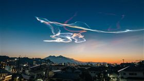 夜光雲,Noctilucent cloud(圖/推特)