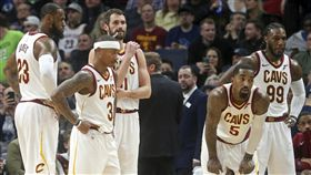 騎士,LeBron James,Isaiah Thomas,Kevin Love(ap)