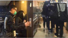 ▲馬女家屬抵達台灣,往醫院太平間進行了解。(圖/翻攝畫面)