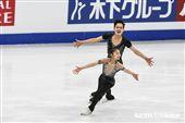 四大洲花式滑冰錦標賽北韓選手廉太鈺、金柱植雙人冰舞。 圖/記者林敬旻攝