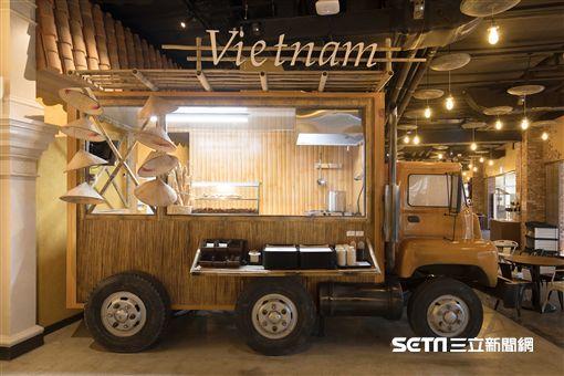 濟州神話世界亞洲美食街,餐車。(圖/濟州神話世界提供)