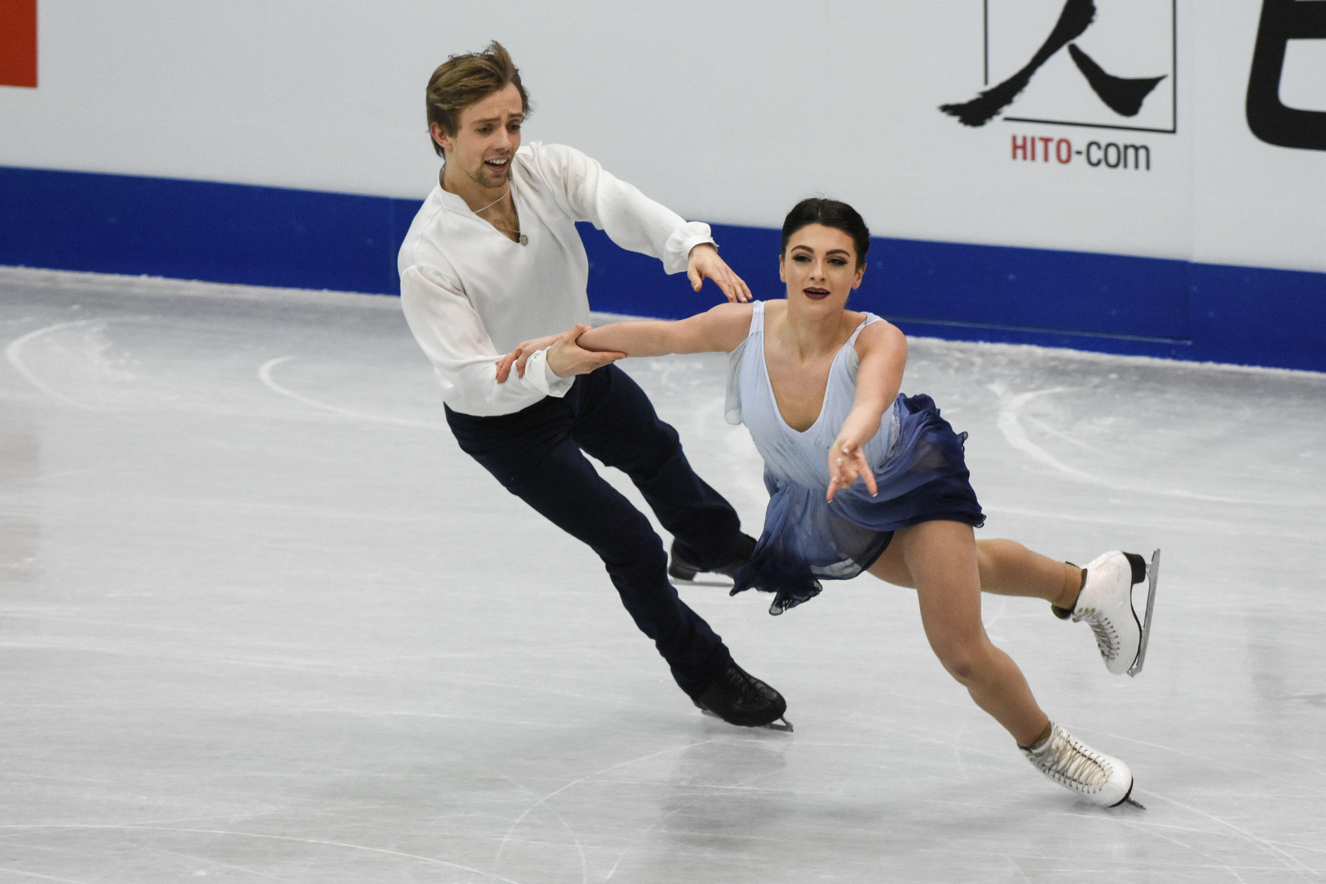 四大洲花式滑冰錦標賽冰舞長曲美國隊Kaitlin Hawayek/ Jean-Luc Baker 圖/記者林敬旻攝