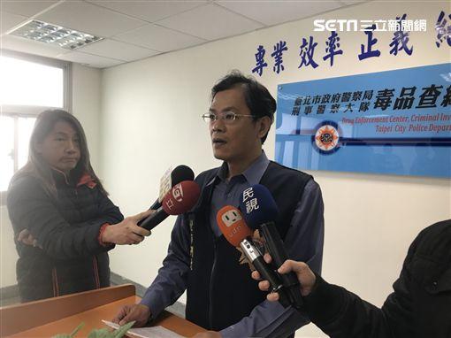 台北市毒緝中心副主任黃壬鍵說明案情(楊忠翰攝)