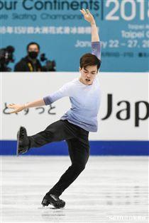 四大洲花式滑冰錦標賽男子短曲中華隊曹志禕 圖/記者林敬旻攝
