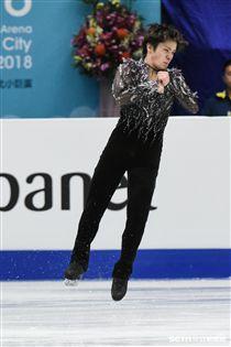 四大洲花式滑冰錦標賽男子短曲日本選手宇野昌磨 圖/記者林敬旻攝