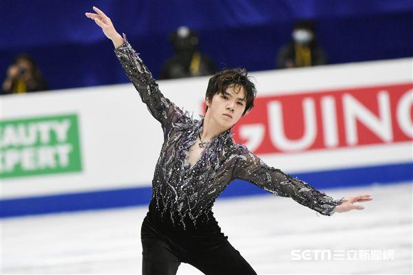四大洲花式滑冰錦標賽男人短曲日本選手宇野昌磨 圖/記者林敬旻攝