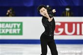 四大洲花式滑冰錦標賽男子短曲中國選手金博洋 圖/記者林敬旻攝