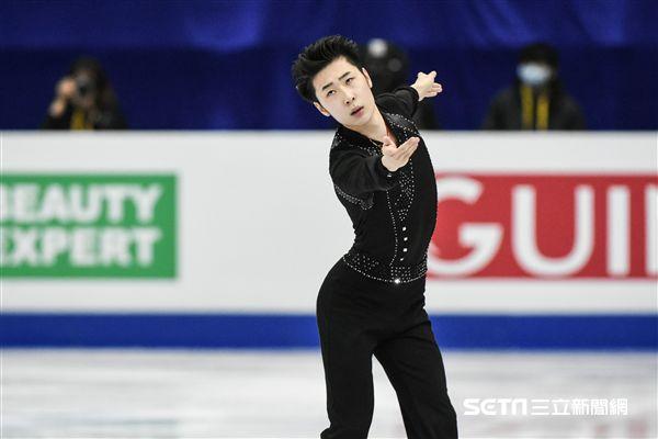 四大洲花式溜冰錦標賽男人短曲中國選手金博洋 圖/記者林敬旻攝