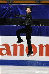 四大洲花式滑冰錦標賽男子短曲日本選手無良崇人 圖/記者林敬旻攝