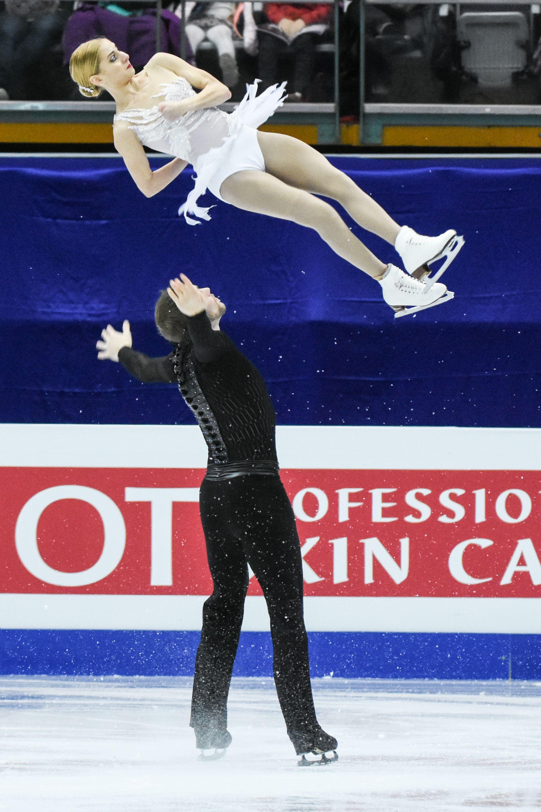 四大洲花式滑冰錦標賽雙人長曲美國選手Tarah Kayne、Danny O''shea。 圖/記者林敬旻攝