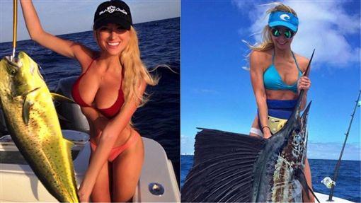 模特兒,比基尼,捕魚,釣手,漁船,爆乳,Emily Riemer,海女,釣魚,魚腥,魚 圖/翻攝自Emily RiemerIG https://goo.gl/QrcPAh