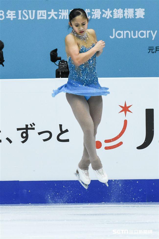 四大洲花式滑冰錦標賽單人長曲中華台北林仁語。 圖/記者林敬攝