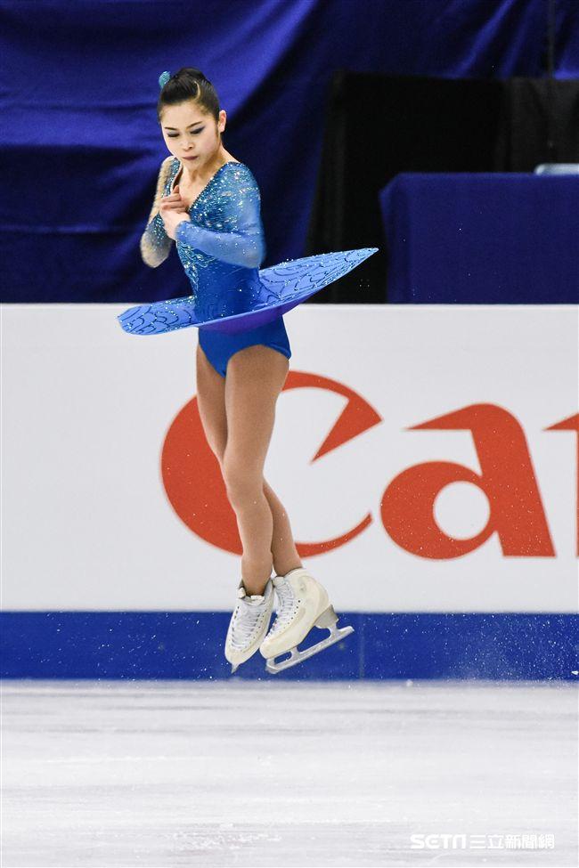 四大洲花式滑冰錦標賽女子長曲日本選手宮原知子。 圖/記者林敬旻攝