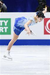 四大洲花式滑冰錦標賽女子長曲日本選手三原舞依。 圖/記者林敬旻攝