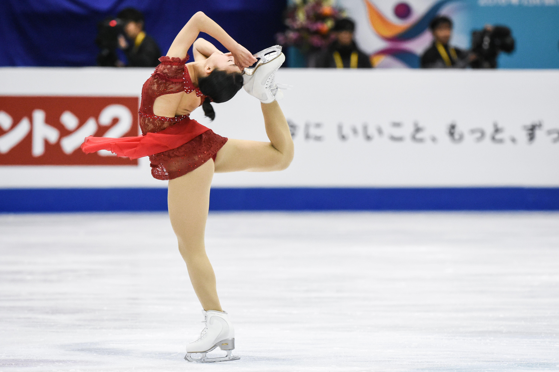 四大洲花式滑冰錦標賽女子長曲日本選手坂本花織。 圖/記者林敬旻攝