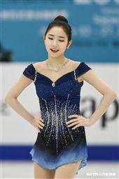 四大洲花式滑冰錦標賽女子長曲南韓選手崔多彬。 圖/記者林敬旻攝
