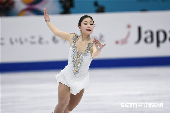 四大洲花式滑冰錦標賽女子長曲南韓選手金河娜。 圖/記者林敬旻攝