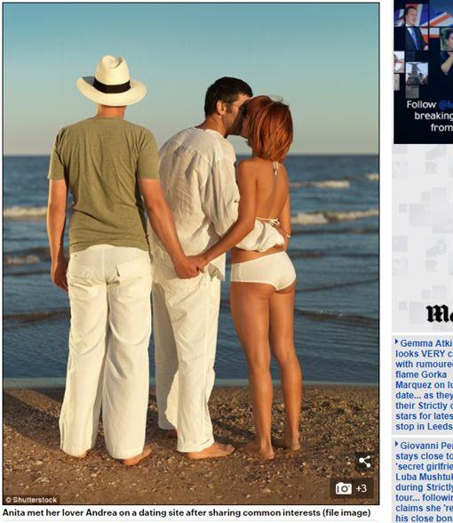 英國人夫Marc讓妻子Anita Cassidy跟別的男人做愛/每日郵報