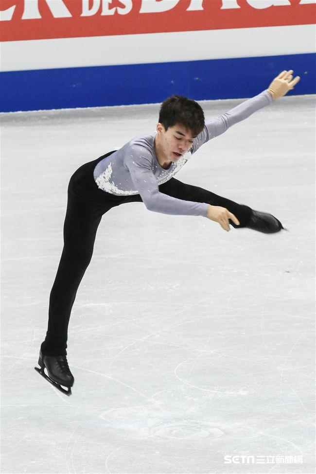 四大洲花式滑冰錦標賽男子長曲中華台北曹志禕。 (圖/記者林敬旻攝)