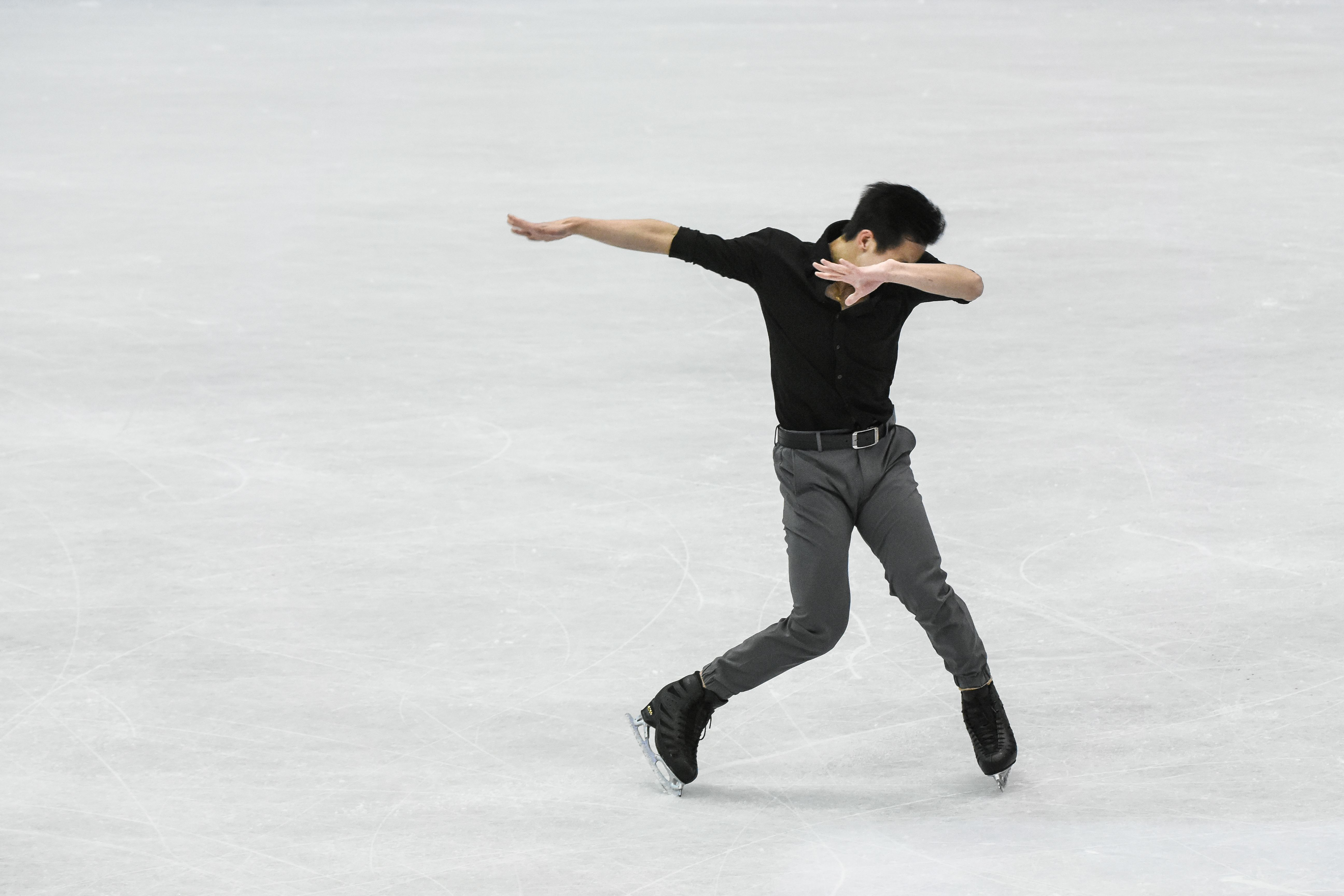 四大洲花式滑冰錦標賽男子長曲馬來西亞茹自傑Julian Zhi Jie Yee。 (圖/記者林敬旻攝)