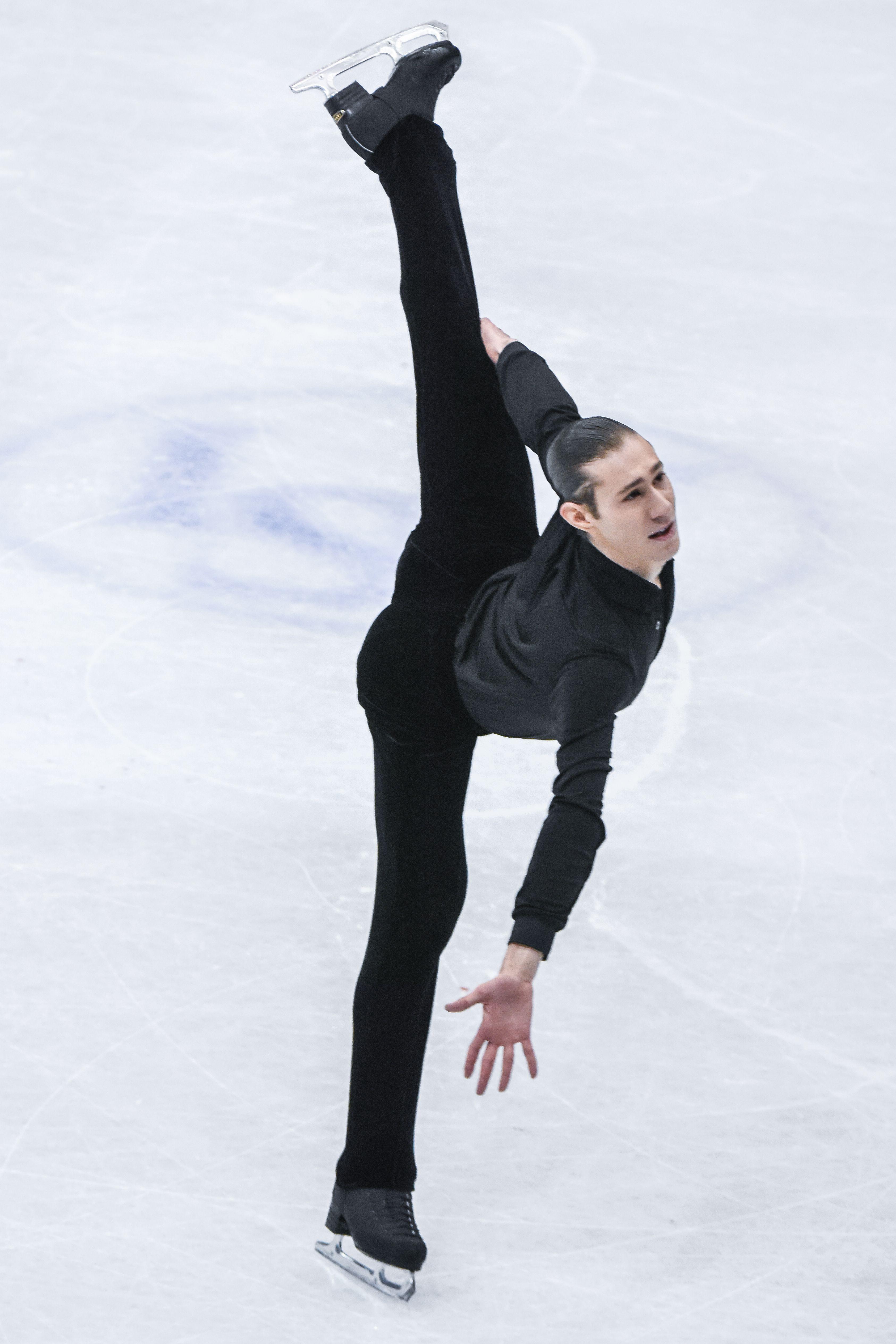 四大洲花式滑冰錦標賽男子長曲美國Jason Brown。 (圖/記者林敬旻攝)