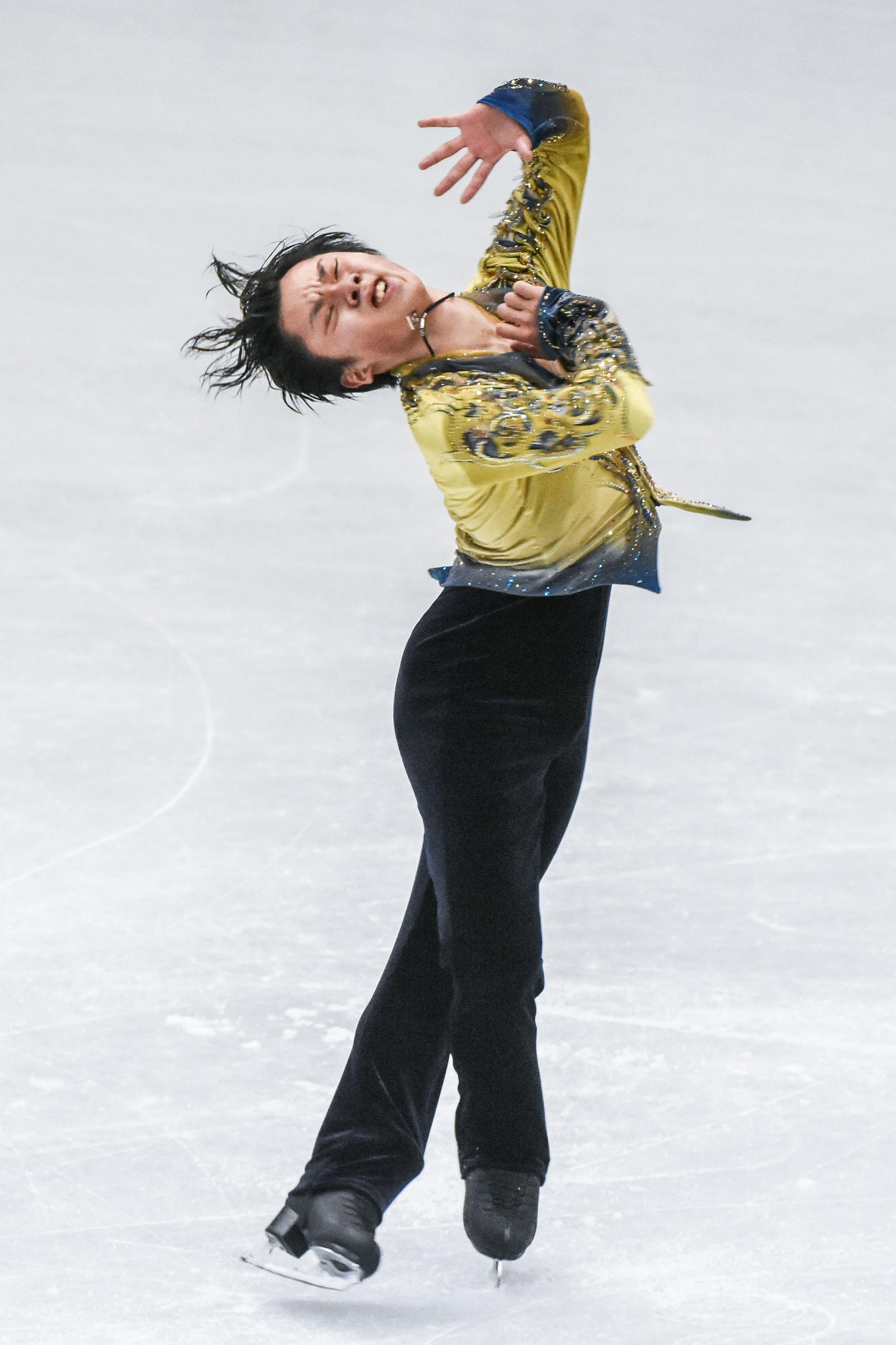 四大洲花式滑冰錦標賽男子長曲日本選手宇野昌磨。 (圖/記者林敬旻攝)