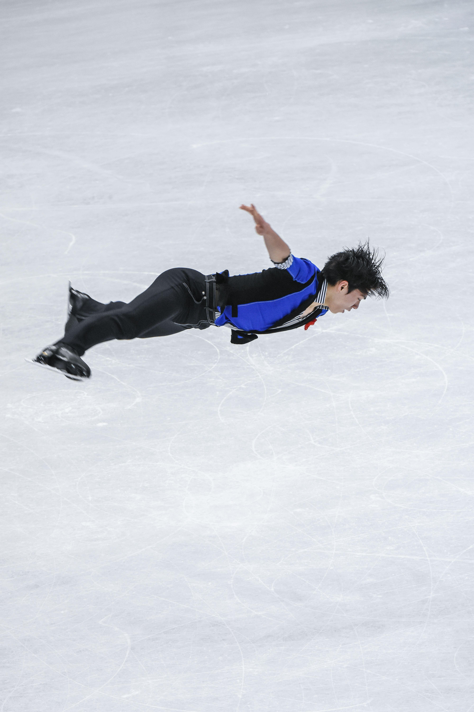四大洲花式滑冰錦標賽男子長曲日本選手田中刑事。 (圖/記者林敬旻攝)