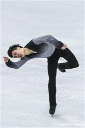 四大洲花式滑冰錦標賽男子長曲日中國選手金博洋。 (圖/記者林敬旻攝)