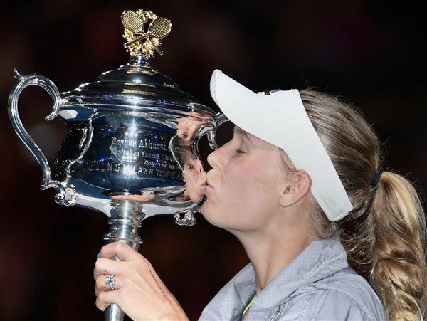 ▲Caroline Wozniacki奪下澳網女單冠軍。(圖/翻攝自澳洲網球公開賽推特)