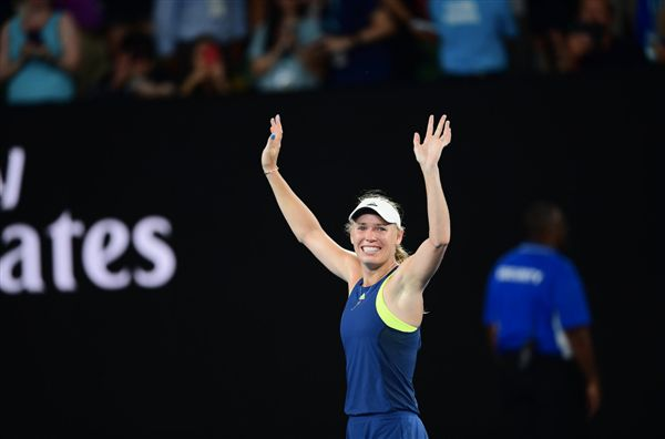 ▲Caroline Wozniacki。(圖/翻攝自澳洲網球公開賽推特)