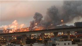 桃園煉油廠爆炸起火/翻攝自YouTube