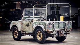 1948年首輛參展的Land Rover原型車。(圖/Land Rover提供)