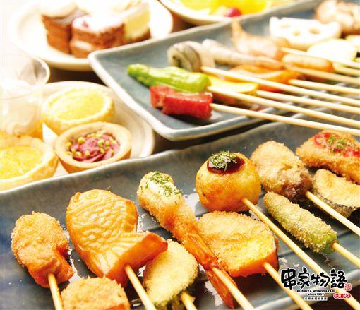串家物語,日式炸串物,吃到飽。(圖/串家物語提供)