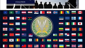 國際反恐「堅定決心行動」官網重新掛上中華民國國旗(圖/翻攝自堅定決心官網)