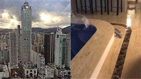 Santa Catarina,Millennium Palace,巴西,強風,高樓,水災,浴池 圖/翻攝自YouTube https://goo.gl/feMZpJ