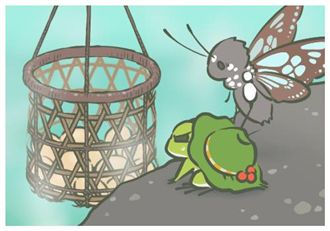 《旅行青蛙》明信片 對應真實景點