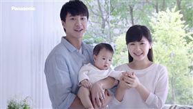 ▲福原愛與江宏傑攜手代言拍廣告。(圖/台灣松下提供)