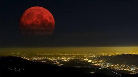 月全食,血月,紅月(圖/推特) ID-1234158