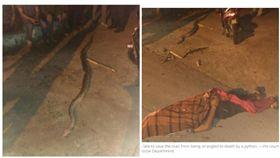 馬來西亞雪蘭莪州一名失業男子遭蟒蛇纏繞窒息死亡(圖/翻攝影自Malay Mail) http://www.themalaymailonline.com/malaysia/article/man-strangled-to-death-after-trying-to-catch-sell-python#DPQhdsUSlKSSsxGv.97