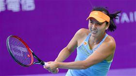 ▲彭帥爆冷在首輪遭淘汰。(圖/WTA台灣公開賽大會提供)