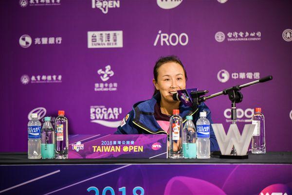 ▲澳網結束後彭帥到台灣參加WTA台灣公開賽。(圖/WTA台灣公開賽大會提供)
