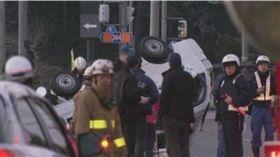 日本發生一起連環車禍,一輛小型卡車衝撞小學生造成1死4傷(圖/翻攝自推特)