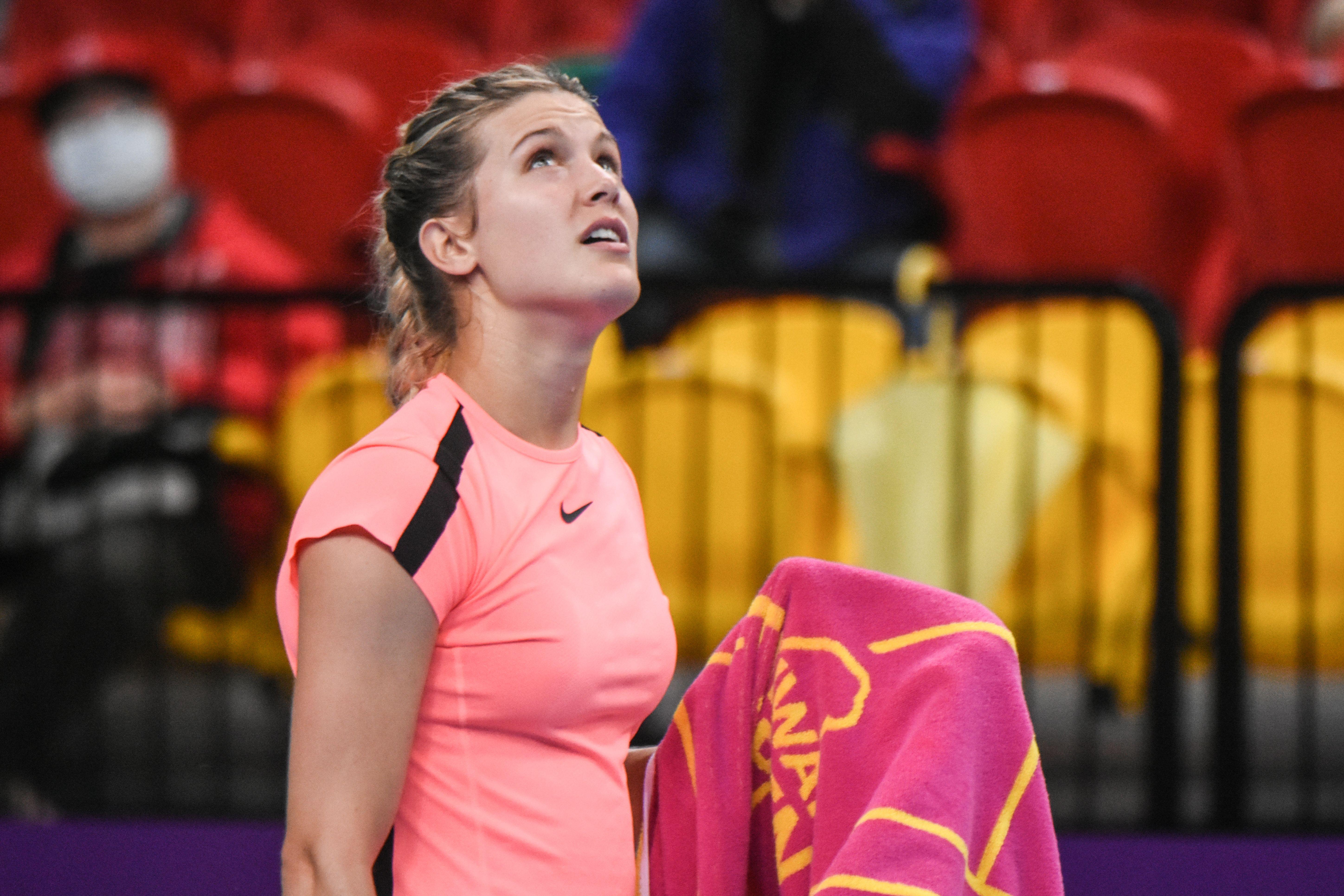 WTA台灣公開賽單打Eugenie Bouchard 尤金妮·布夏德。(圖/記者林敬旻攝)