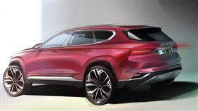 即將發表的新一代Santa Fe。(圖/翻攝Hyundai網站)