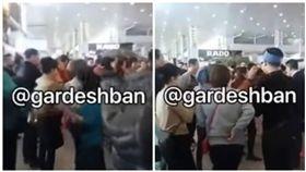 大陸遊客伊朗機場高喊「中國」(圖/翻攝自YouTube)