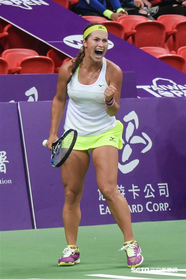WTA台灣公開賽單打Yulia Putintseva 尤利婭·普丁塞娃。(圖/記者林敬旻攝)