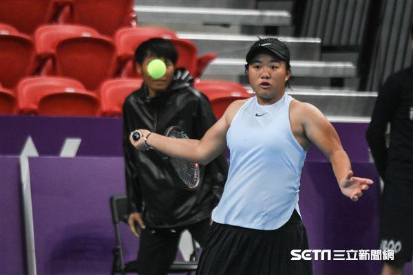 WTA台灣公開賽女雙梁恩碩。 圖/記者林敬旻攝