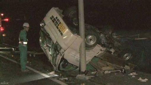 日本,車禍,,追撞,緣由不明,意外 圖/翻攝自NHK